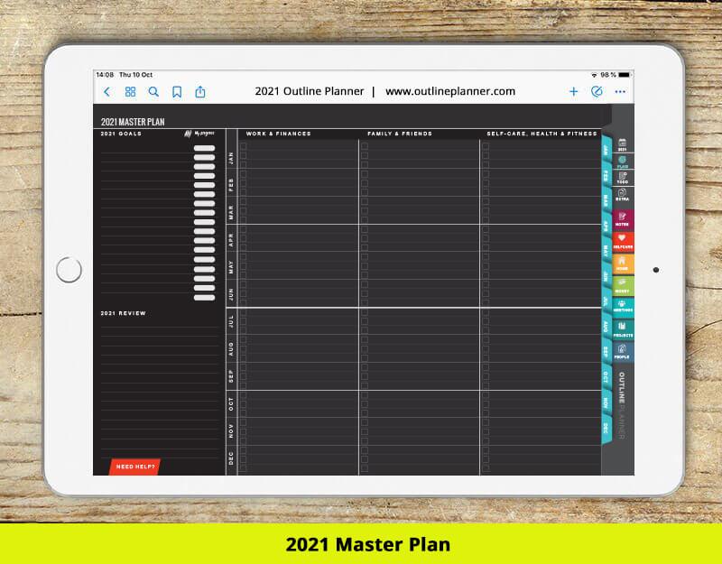2021 digital planner MASTER PLAN