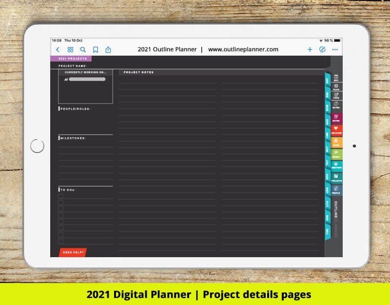 2021 digital planner project goodnotes