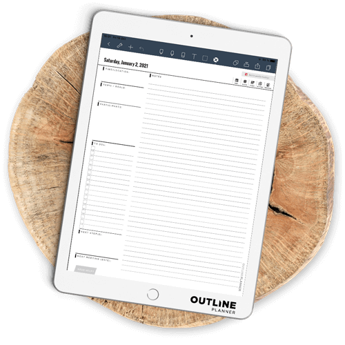 2021 meeting planner goodnotes