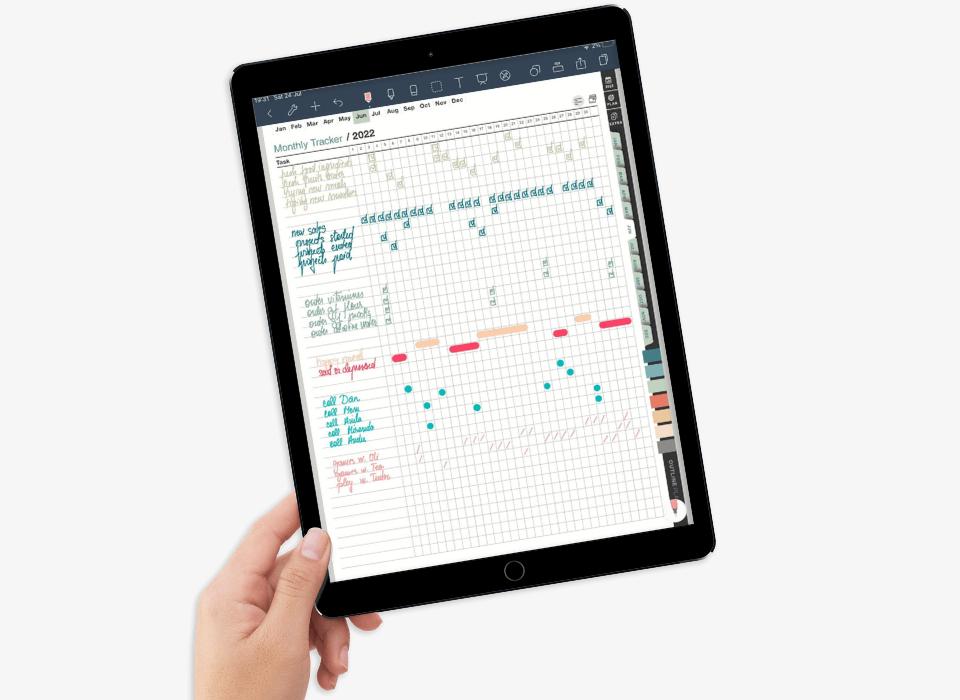 premium 2022 digital planner for ipad