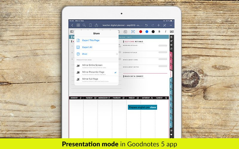 Digital planner for Goodnotes. Weekly planner for Goodnotes 5