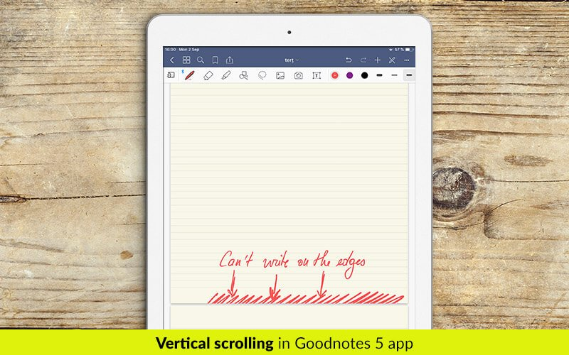 Talking notes on Goodnotes. Vertical scrolling in Goodnotes 5 app - digital planners