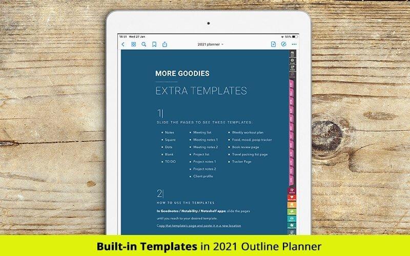 digital templates 2021 digital planner