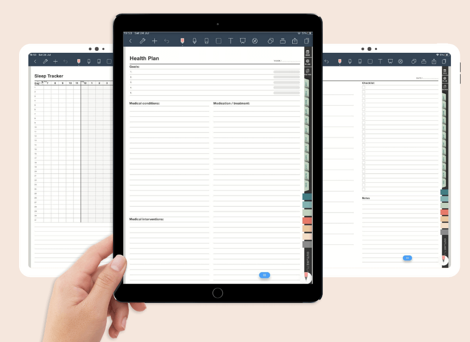 2022 goodnotes digital planner template