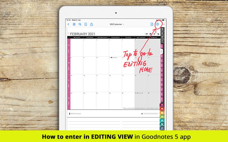 editing mode in goodnotes 5