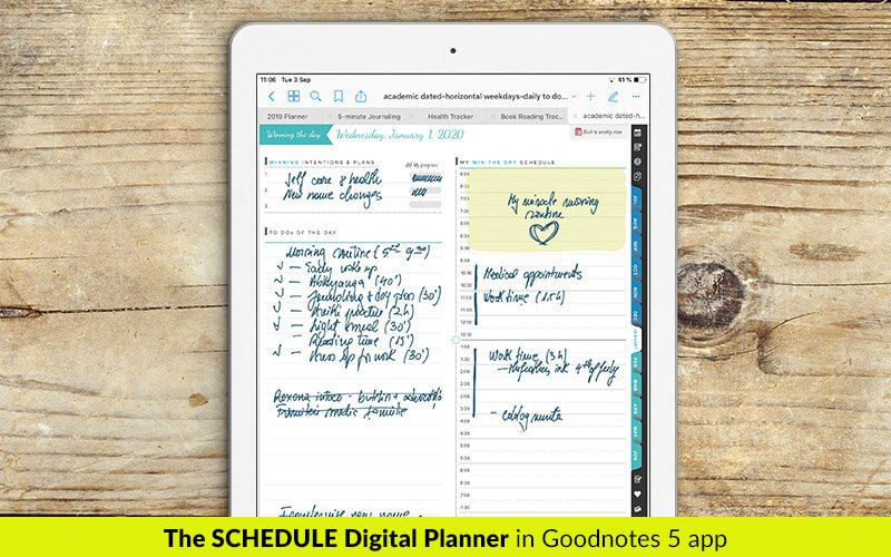 2019 schedule digital planner in Goodnotes app - digital planning and digital note talking