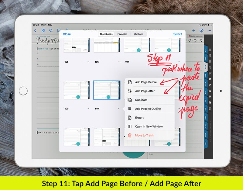 2020 digital planner - how to paste in goodnotes 5